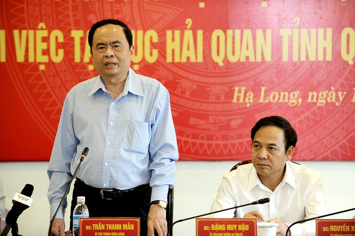 Chủ tịch Ủy ban Trung ương Mặt trận Tổ quốc Việt Nam Trần Thanh Mẫn làm việc với Cục Thuế Quảng Ninh - ảnh 1