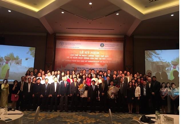 Kỷ niệm lần thứ 38 Ngày Lương thực Thế giới  và 40 năm hoạt động của FAO tại Việt Nam - ảnh 1