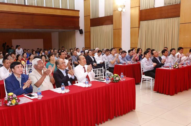 Chủ tịch UBMTQVN Trần Thanh Mẫn và Phó Thủ tướng Trương Hòa Bình dự Ngày hội Đại đoàn kết  - ảnh 1