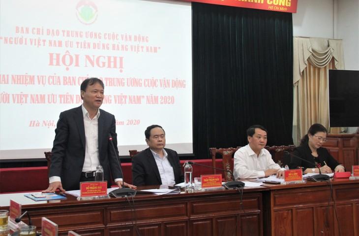 """Ban chỉ đạo Trung ương cuộc vận động """"Người Việt Nam ưu tiên dùng hàng Việt Nam"""" triển khai nhiệm vụ năm 2020 - ảnh 1"""