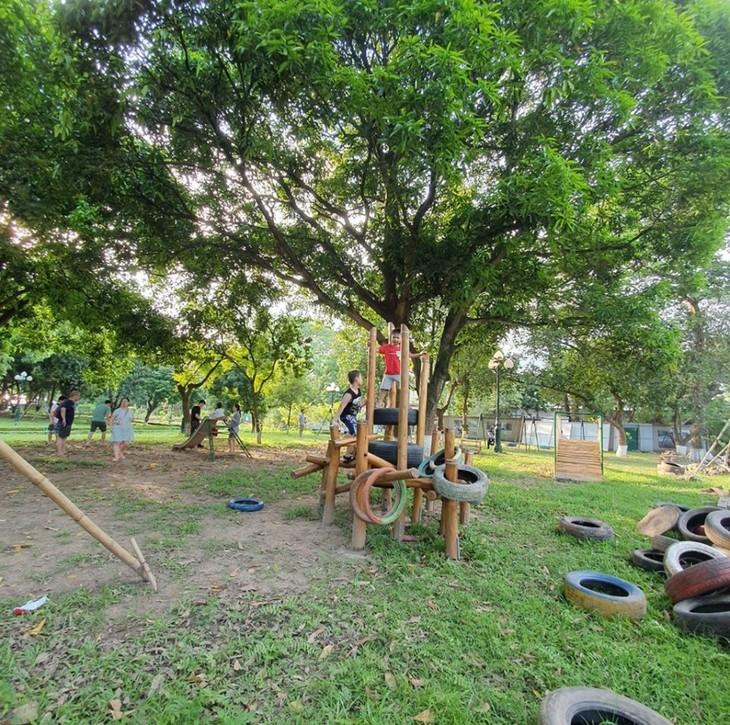 Sân chơi tái chế Think Playground- món quà tinh thần vô giá của trẻ thơ - ảnh 2