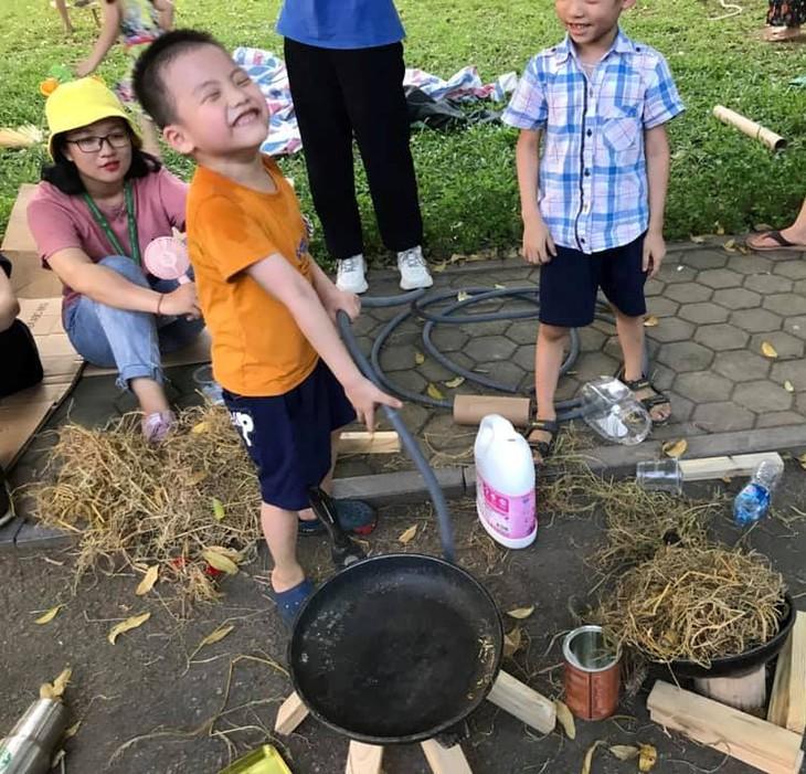 Sân chơi tái chế Think Playground- món quà tinh thần vô giá của trẻ thơ - ảnh 3