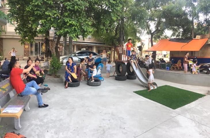 Sân chơi tái chế Think Playground- món quà tinh thần vô giá của trẻ thơ - ảnh 1