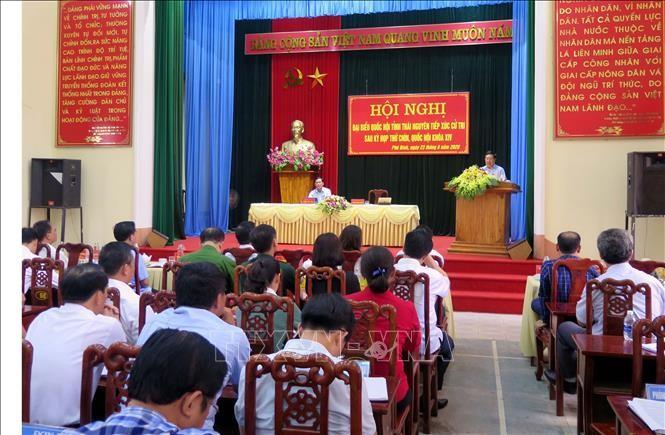 Phó Thủ tướng Chính phủ Phạm Bình Minh tiếp xúc cử tri tỉnh Thái Nguyên - ảnh 1