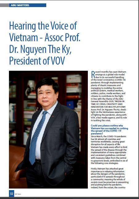 Tạp chí ABU phỏng vấn Tổng giám đốc Đài TNVN Nguyễn Thế Kỷ về phòng chống Covid - ảnh 2