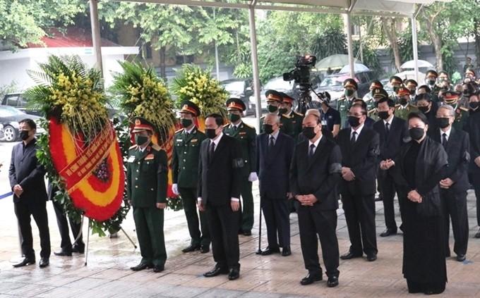 Lễ viếng nguyên Tổng Bí thư Lê Khả Phiêu - ảnh 1