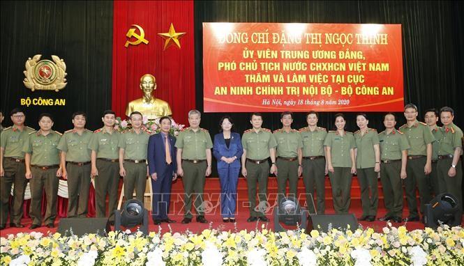Phó Chủ tịch nước Đặng Thị Ngọc Thịnh: An ninh chính trị nội bộ là nhiệm vụ đặc biệt quan trọng - ảnh 1