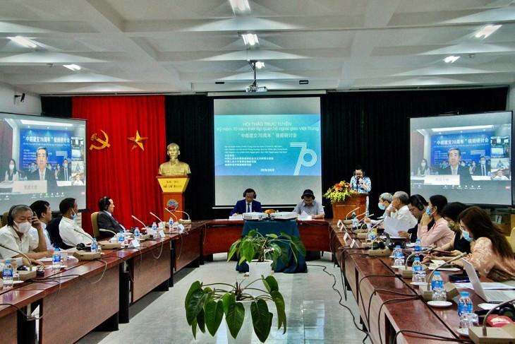 Hội thảo Trực tuyến 70 năm thiết lập quan hệ ngoại giao Việt Nam – Trung Quốc - ảnh 1