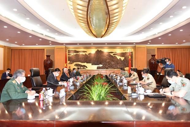 Đại sứ Phạm Sao Mai hội kiến Ủy viên Quốc vụ, Bộ trưởng Quốc phòng Trung Quốc  - ảnh 2