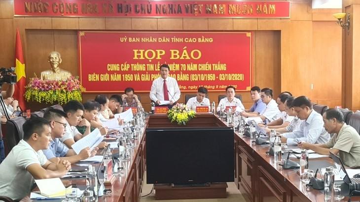 Họp báo về Kỷ niệm 70 năm Chiến thắng Biên giới 1950 và Giải phóng Cao Bằng - ảnh 1