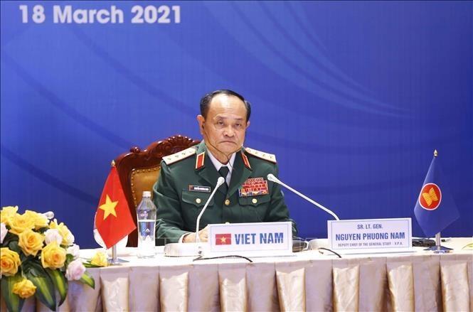 Việt Nam cam kết tham gia có trách nhiệm trong hợp tác quốc phòng, quân sự ASEAN - ảnh 1
