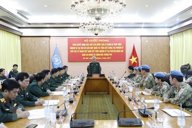 Cờ Việt Nam thắm sắc trên bản đồ gìn giữ hòa bình thế giới - ảnh 1