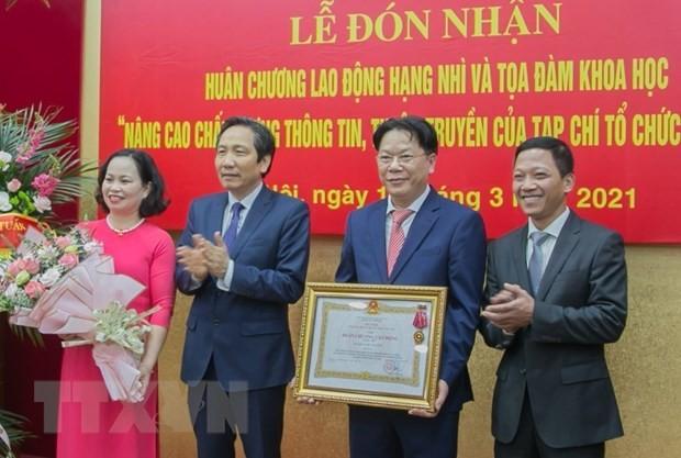 Lễ đón nhận Huân chương Lao động hạng Nhì và Tọa đàm khoa học của tạp chí Tổ chức nhà nước - ảnh 1