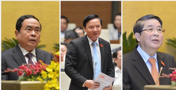 Ông Trần Thanh Mẫn, Nguyễn Khắc Định, Nguyễn Đức Hải trúng cử Phó Chủ tịch Quốc hội - ảnh 1