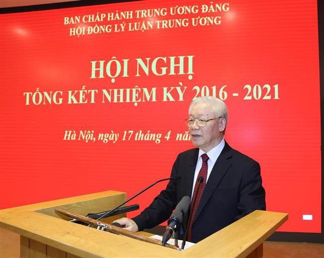 Tổng Bí thư Nguyễn Phú Trọng dự Hội nghị tổng kết của Hội đồng lý luận Trung ương - ảnh 1