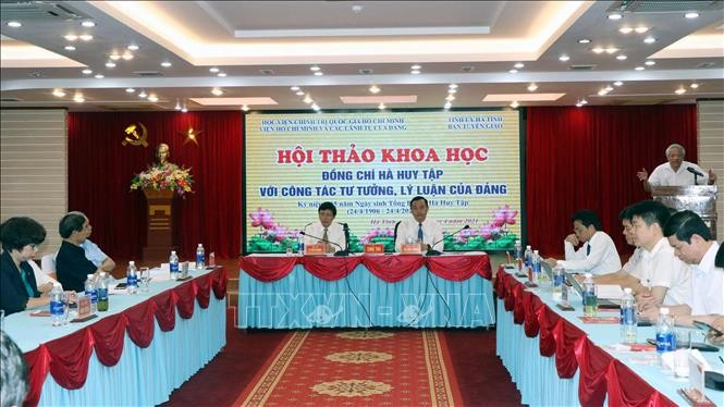 Hội thảo khoa học Hà Huy Tập với công tác tư tưởng, lý luận của Đảng - ảnh 1