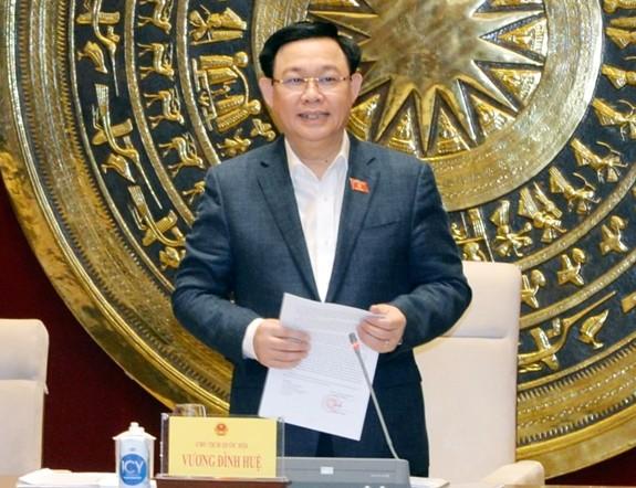 Chủ tịch Quốc hội Vương Đình Huệ làm việc với Thường trực Ủy ban Kinh tế - ảnh 1