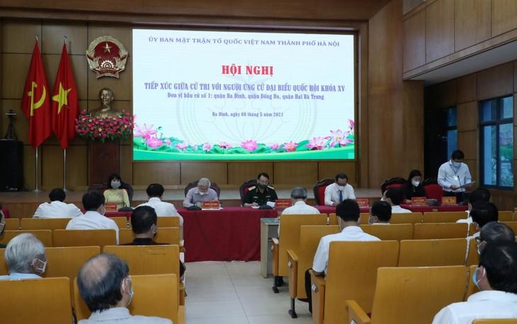 Tổng Bí thư Nguyễn Phú Trọng tiến hành tiếp xúc cử tri, vận động bầu cử - ảnh 1