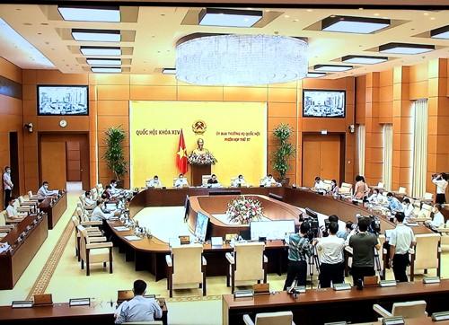Phiên họp 57 của Ủy ban Thường vụ Quốc hội cho ý kiến vào nhiều nội dung quan trọng - ảnh 1