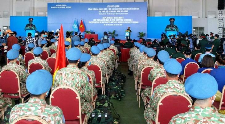 Вьетнамский военно-полевой госпиталь второго уровня №3 отправился в Южный Судан  - ảnh 1