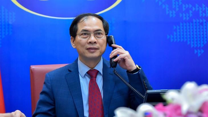Министры иностранных дел Лаоса, Камбоджи и Индонезии поздравили главу МИД Вьетнама Буй Тхань Шона - ảnh 1