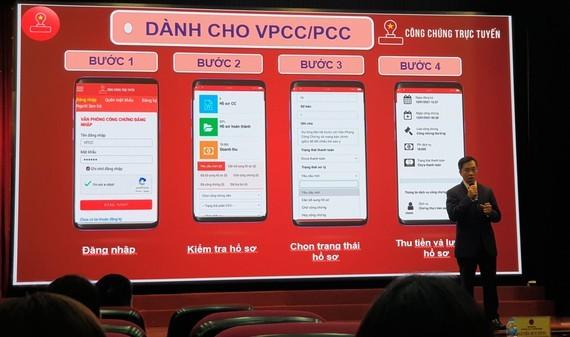 Министерство информации и коммуникаций Вьетнама представило платформу нотариального заведения в режиме онлайн - ảnh 1