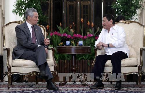 新加坡和菲律宾领导人讨论东海和打击恐怖主义问题 - ảnh 1