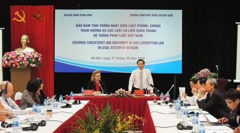 """""""确保《反腐败法》与相关法律统一性""""研讨会在河内举行 - ảnh 1"""
