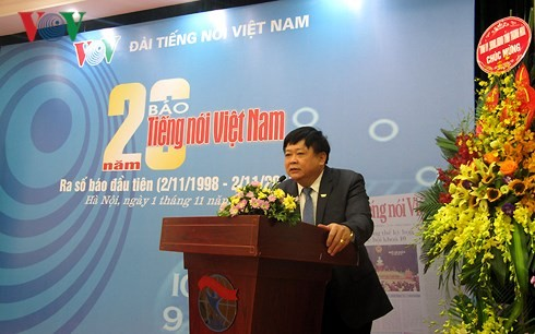 本台台长出席《越南之声报》创刊20周年纪念会 - ảnh 1