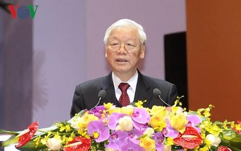阮富仲出席越南农民协会第7次全国代表大会开幕式 - ảnh 1