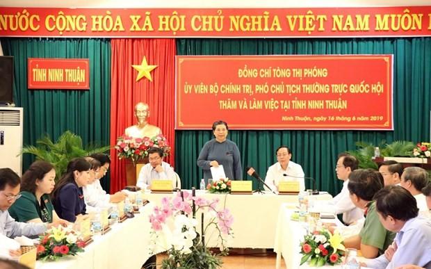 越南国会常务副主席丛氏放视察宁顺省 - ảnh 1