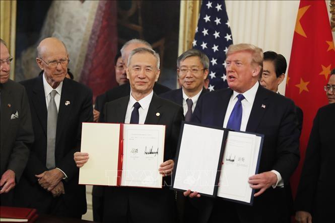 美中第一阶段贸易协议化解冲突 - ảnh 1