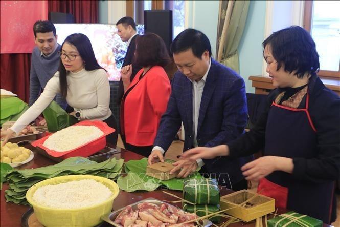 越南驻俄罗斯大使馆为旅俄越南人举行欢度新春活动 - ảnh 1