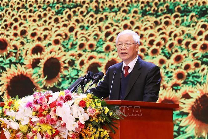 越南共产党建党90周年纪念集会隆重举行 - ảnh 2