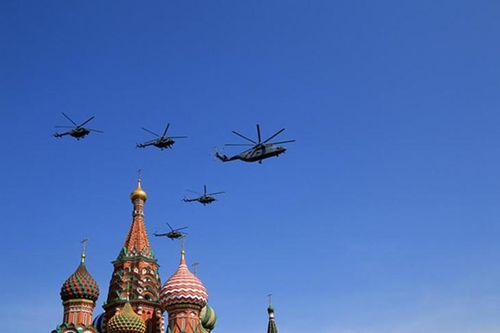 俄空军举行卫国战争胜利日纪念活动彩排 - ảnh 1