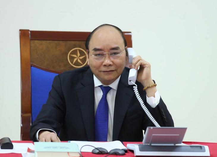 នាយករដ្ឋមន្ត្រីវៀតណាម លោក Nguyen Xuan Phuc អញ្ជើញសន្ទនាតាមទូរស័ព្ទជាមួយនាយករដ្ឋមន្ត្រីអូស្ត្រាលី - ảnh 1