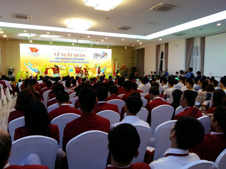 Lễ xuất quân của Đoàn thể thao Việt Nam tham dự Sea Games 29 - ảnh 1
