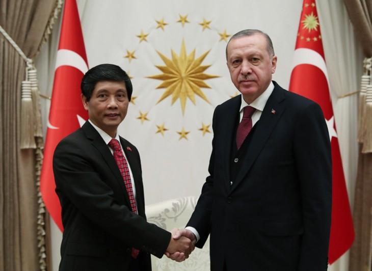 Đại sứ Trần Quang Tuyến trình Ủy nhiệm thư lên Tổng thống Thổ Nhĩ Kỳ - ảnh 2