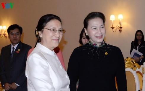 Chủ tịch Quốc hội hội kiến Chủ tịch Quốc hội CHDCND Lào - ảnh 1