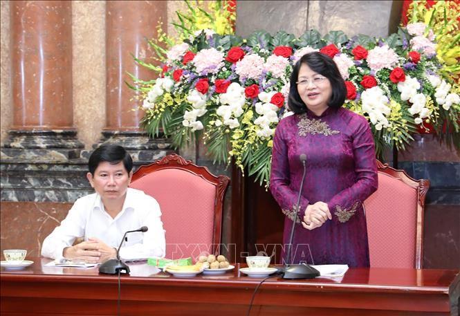 Phó Chủ tịch nước Đặng Thị Ngọc Thịnh tiếp đoàn người có công Cà Mau - ảnh 1