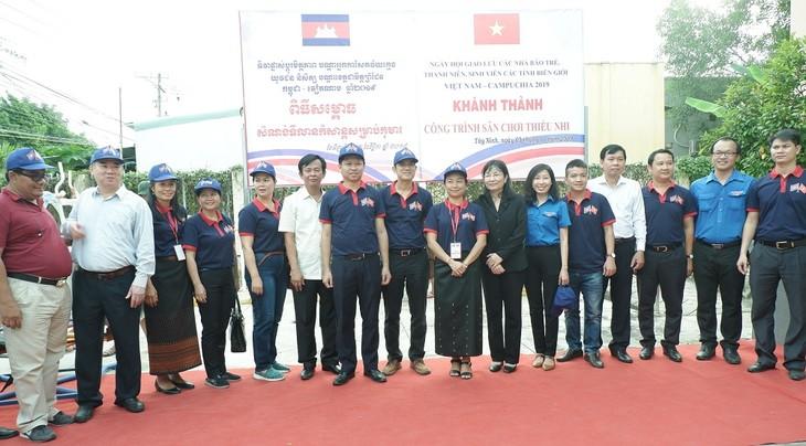 Ngày hội giao lưu các nhà báo trẻ, thanh niên, sinh viên các tỉnh biên giới Việt Nam – Campuchia năm 2019  - ảnh 4