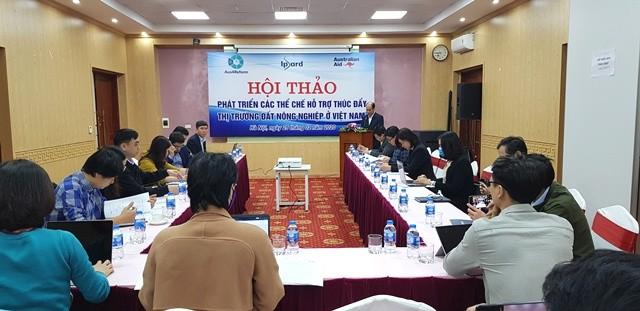 Phát triển các thể chế hỗ trợ thúc đẩy thị trường đất nông nghiệp ở Việt Nam - ảnh 1