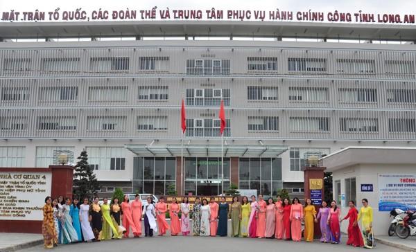 """Long An hưởng ứng sự kiện """"Áo dài - Di sản văn hóa Việt Nam"""" - ảnh 1"""
