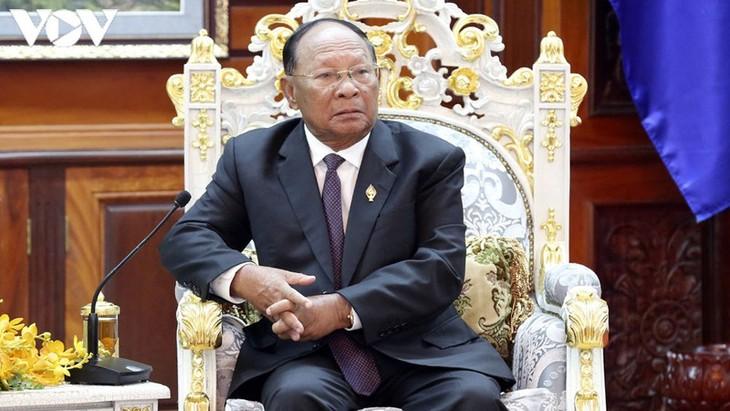 Chủ tịch Quốc hội Campuchia gửi điện chia buồn nguyên Tổng bí thư Lê Khả Phiêu - ảnh 1