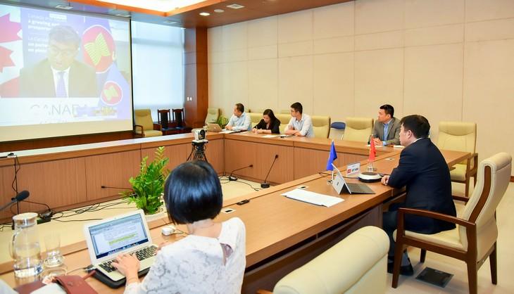 Đối thoại ASEAN-Canada lần thứ 17 theo hình thức trực tuyến - ảnh 1