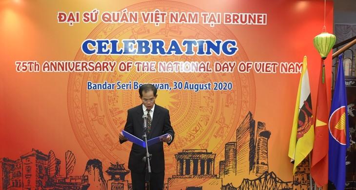 Các hoạt động kỷ niệm 75 năm Quốc khánh Việt Nam tại Đại sứ quán Việt Nam tại Brunei - ảnh 1