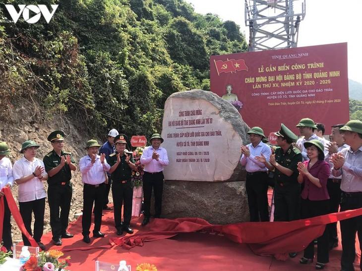 Quảng Ninh khánh thành công trình cấp điện lưới quốc gia ra Đảo Trần - ảnh 1