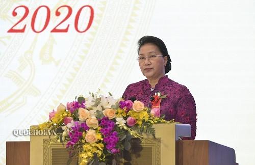 Chủ tịch Quốc hội Nguyễn Thị Kim Ngân dự Đại hội Thi đua yêu nước của Văn phòng Quốc hội - ảnh 1