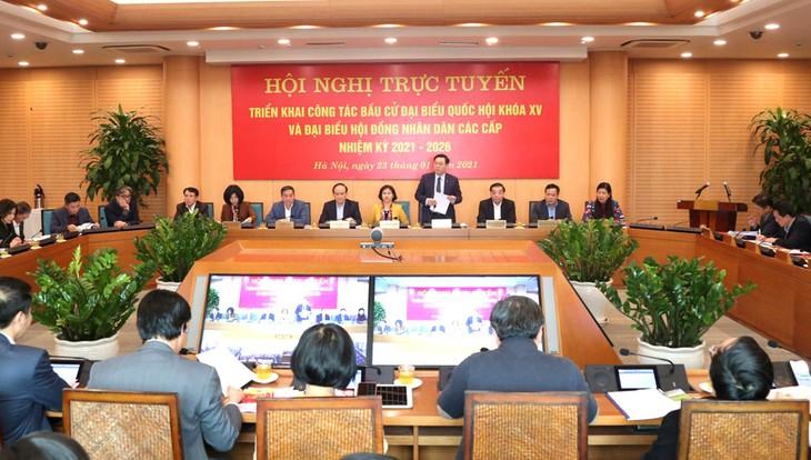 Hà Nội quyết tâm tổ chức bầu cử thành công - ảnh 1