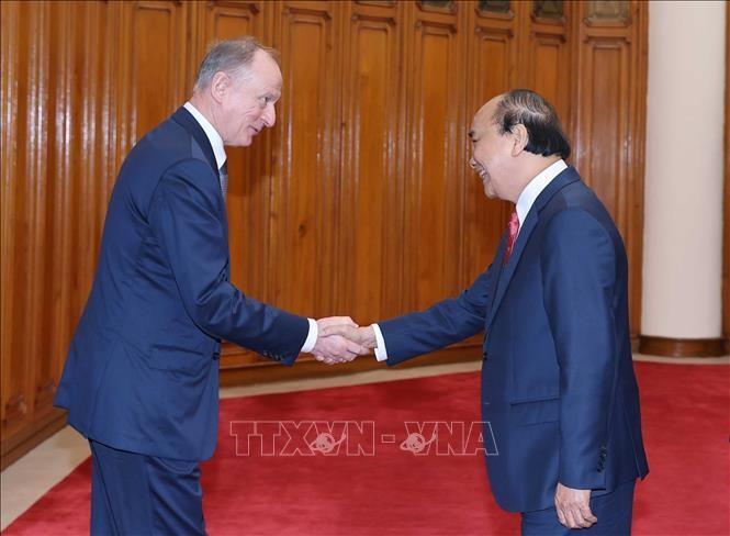 Thủ tướng Nguyễn Xuân Phúc tiếp Thư ký Hội đồng An ninh Liên bang Nga Nikolai Patrushev - ảnh 1